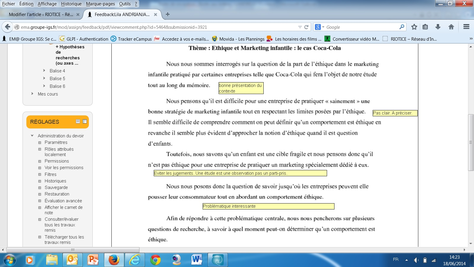 coorigé devoir PDF